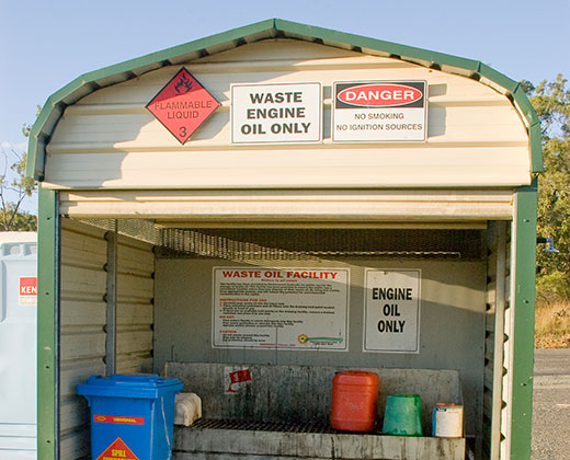 Used oil collection facilities