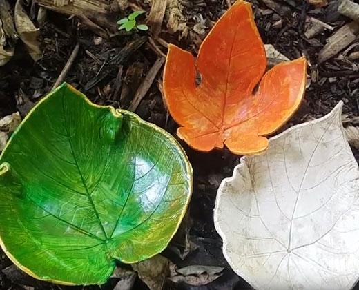 Make your own leaf bowl