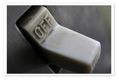 Switch off un-used appliances
