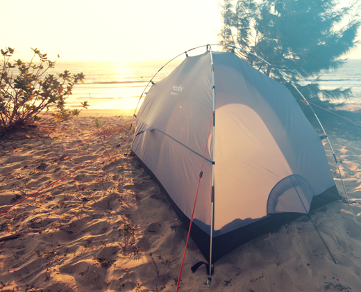 Camp by the beach