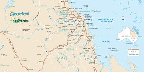Mackay region map