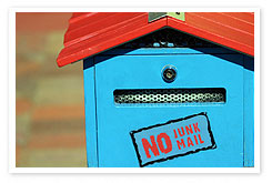 No junk mail and spam